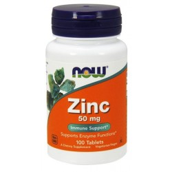 NOW Foods Zinc Cynk 50 mg 100 tabl.