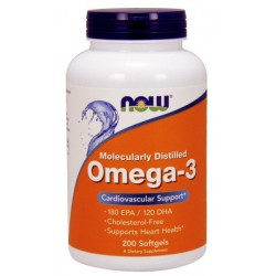 NOW Foods Omega 3 1000 mg 200 capsules .