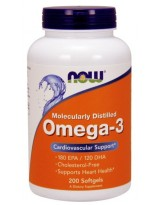 NOW Foods Omega 3 1000 mg 200 kaps.