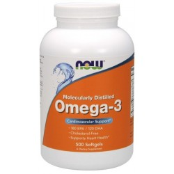 NOW FOODS Omega 3 1000 mg 500 capsules