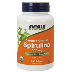 NOW Foods Spirulina 500 mg - 200 tabl.