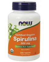 NOW FOODS Spirulina 500 mg  200 tabl.