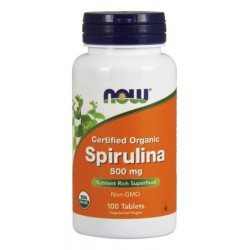 NOW Foods Spirulina 500 mg - 100 tabl.