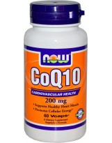 NOW Foods CoQ10 200 mg - 60 kaps.
