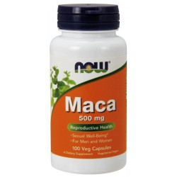 NOW Foods MACA 500mg 100 kaps.