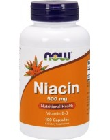 NOW FOODS Niacin 500 mg 100 kaps.
