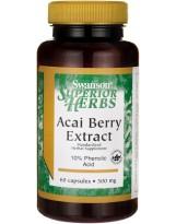 SWANSON Acai Berry Extract 500mg 60 kaps.