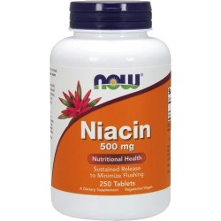 NOW FOODS Niacin 500mg sustained release 250 tabl.