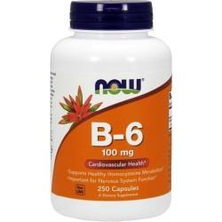 NOW FOODS B-6 100 mg 250 kaps.