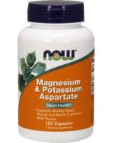 NOW Foods Magnesium & Potassium Aspartate - 120 kaps.