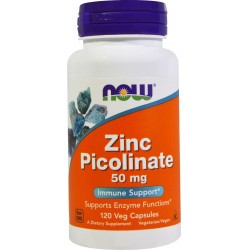 NOW FOODS Zinc Picolinate 50 mg 120 kaps.