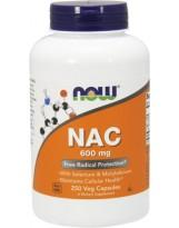NOW FOODS NAC N-Acetylocysteina 600mg 250 caps