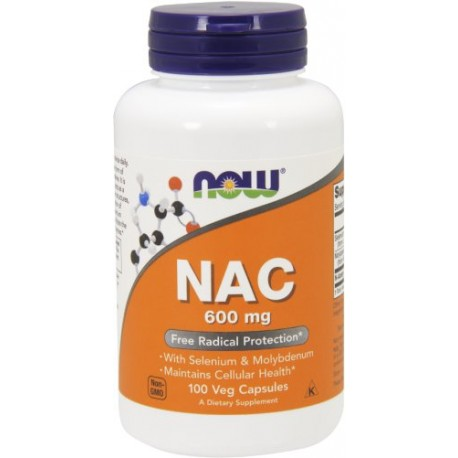 NOW Foods NAC 600 mg 100 kaps.