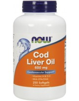 NOW FOODS Cod Liver Oil 650 mg 250 kaps.