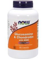NOW FOODS Glukozamina Chondroityna MSM 180 kaps.