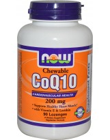 NOW FOODS Koenzym Q10 200 mg Chewables 90 tabl.