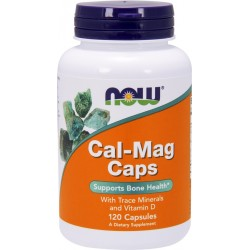 NOW FOODS Cal-Mag Caps 120 kaps.