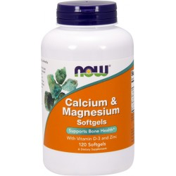 NOW FOODS Calcium & Magnesium D3 120 gels.