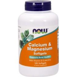 NOW FOODS Calcium & Magnesium D3 120 gels.