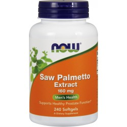 NOW FOODS Saw Palmetto Extract 160 mg 240 gels.