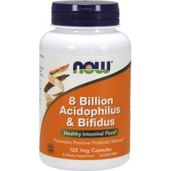 NOW FOODS 8 Billion Acidophilus & Bifidus 120 vcap
