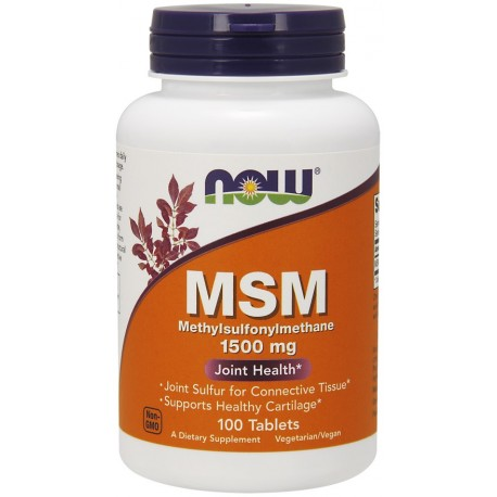 NOW FOODS MSM 1500 mg 100 tablets