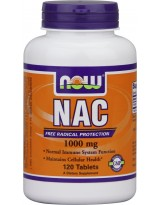 NOW FOODS NAC N-Acetylocysteina 1000 mg 120 tablets