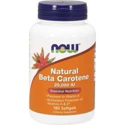 NOW FOODS Natural Beta Carotene 180 caps.