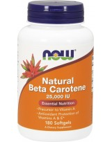 NOW FOODS Natural Beta Carotene 180 kaps.