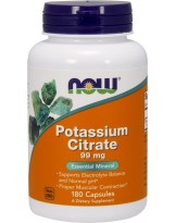NOW FOODS Potassium Citrate 99 mg 180 kaps.