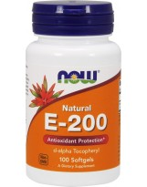 NOW FOODS Witamina E-200 Natural 100 gels