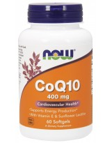 NOW FOODS Koenzym Q10 wit. E 400 mg 60 caps.