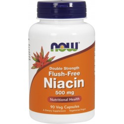 NOW FOODS Niacin 500 mg 90 vcaps.