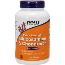 NOW FOODS Glukozamina i Chondronityna Extra Strong 120 tabs.