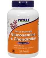 NOW FOODS Glukozamina i Chondroityna Extra Strong 120 tabs.