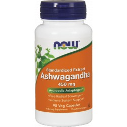 NOW FOODS Ashwagandha 450mg 90 kaps.