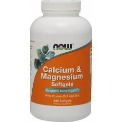 NOW FOODS Calcium & Magnesium D3 240 gels.