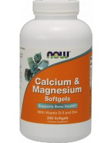 NOW FOODS Calcium & Magnesium D3 240 gels.