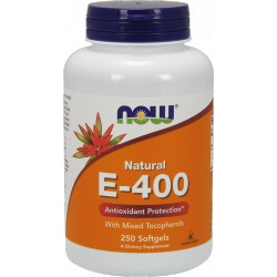 NOW FOODS Witamina E-400 with Mixed Tocopherols 250 kaps.
