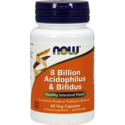 NOW FOODS 8 Billion Acidophilus & Bifidus 60 weg.kaps.