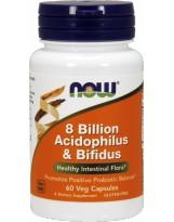 NOW FOODS 8 Bilion Acidophilus & Bifidus 60 vcap.