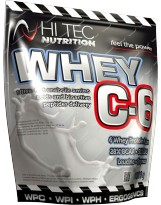 HI-TEC Whey C-6 1000 g biała czekolada