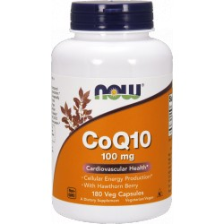 NOW FOODS Koenzym Q10 100mg Hawthron 180 vcaps.