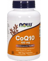 NOW FOODS Koenzym Q10 100mg  Hawthorn 180 vcaps.