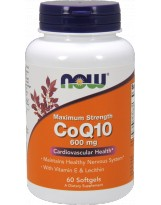 NOW FOODS Koenzym Q10 600mg Lecithin & Vitamin E 60 kaps.