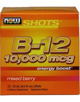 NOW FOODS Vitamin B-12 Shots 10.000mcg 12x15ml