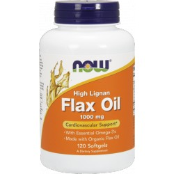 NOW FOODS Flax Oil 1000mg 120 gels.