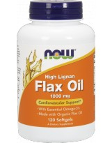 NOW FOODS Flax Oil 1000mg High Lignan 120 gels.