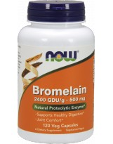 NOW FOODS Bromelain 500 mg 120 vcaps.