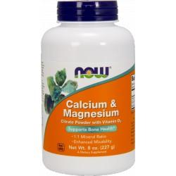 NOW FOODS Calcium & Magnesium Citrate & D3 227g